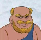 秃头胡子原始人