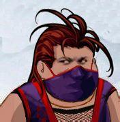 紫色戴口罩长发