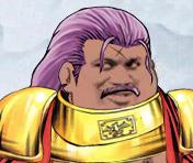 黄金铠甲紫色头发