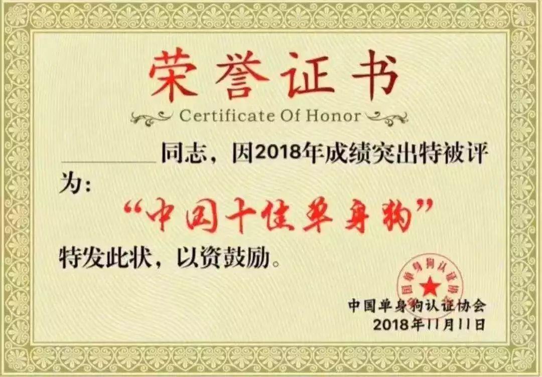 中国十佳单身狗