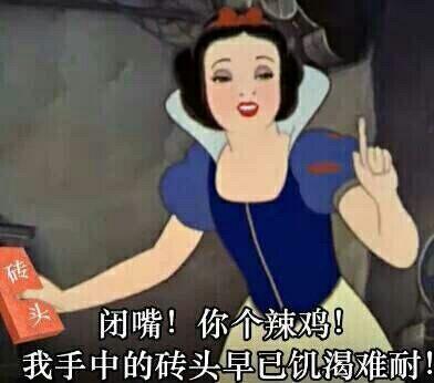 白雪公主:闭嘴!你个辣鸡!我手上的砖头早已饥渴难耐了!