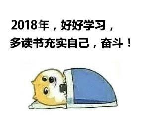 2018年,好好学习,多读书充实自己,奋斗!