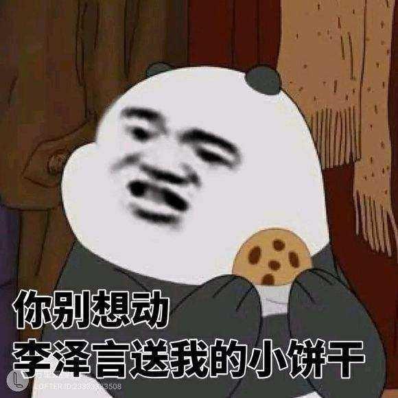 你别想动,李泽言送我的小饼干