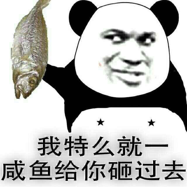 我特么就一咸鱼给你砸过去