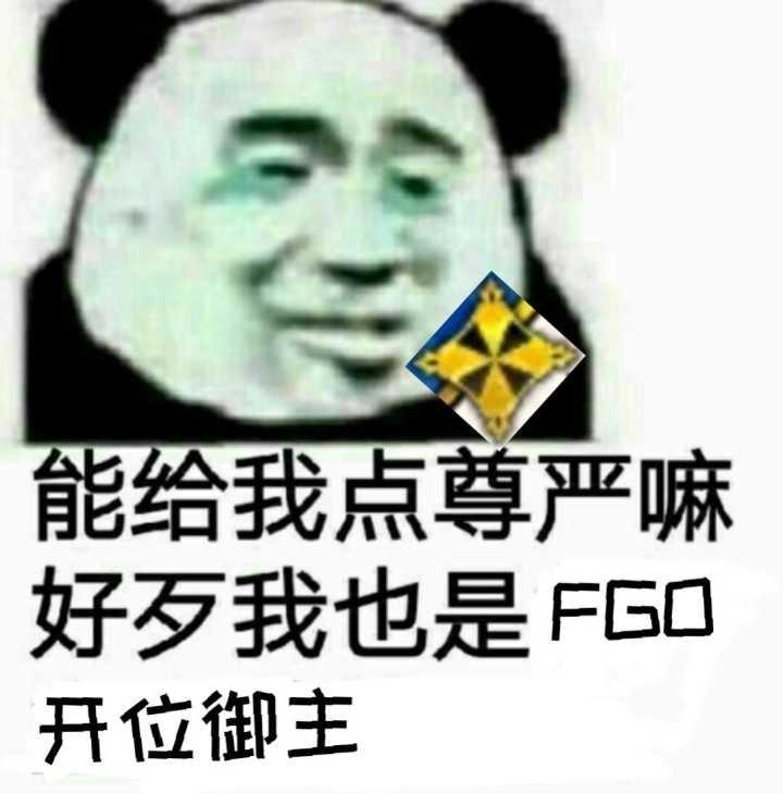 给我点尊严嘛,好歹我也是FGO开位御主