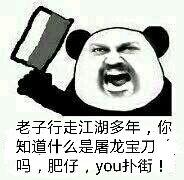 老子行走江湖多年,你知道什么是屠龙宝刀吗,肥仔,you扑街!