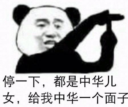 停一下,都是中华儿女,给我中华一个面子