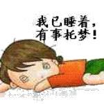 我已睡着,有事托梦!