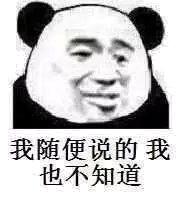 我随便说的,我也不知道(熊猫人)