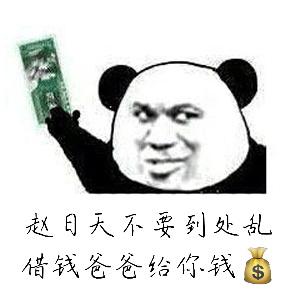 赵日天不要到处乱借钱爸爸给你钱(熊猫)