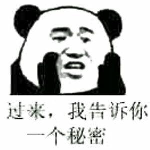 过来,我告诉你一个秘密(熊猫人)