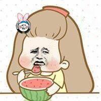 金馆长卡通妹子吃西瓜!