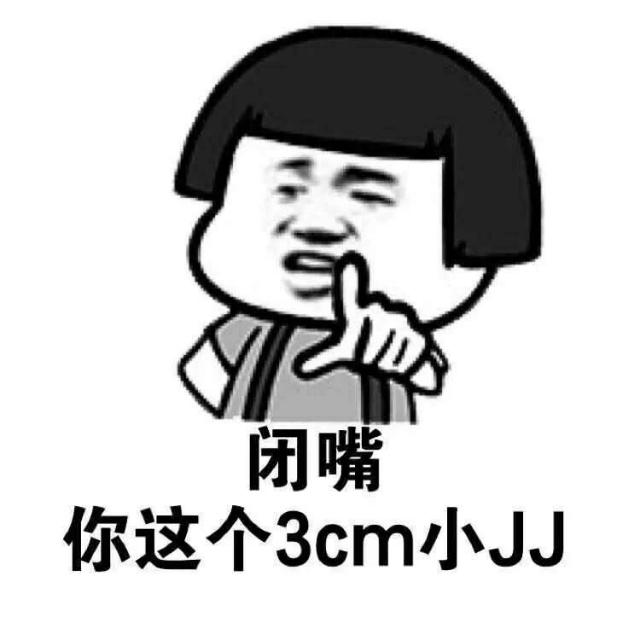闭嘴你这个3cm小JJ