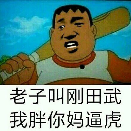老子叫刚田武,我胖你妈逼虎