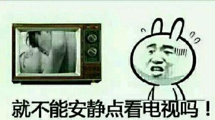 就不能安静点看电视吗?