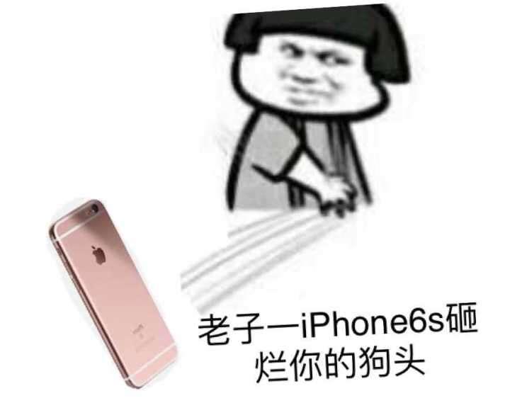 老子一个iPhone 6s砸烂你的狗头