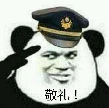 敬礼!(熊猫人警察)