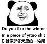 你就像冬天里的一坨屎 Do you like the winter in a place of yituo shit