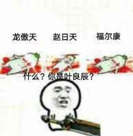 龙傲天,赵日天,福尔康流血躺地上:什么?你是叶良辰? - 表情包
