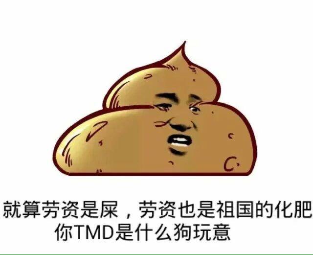 就算劳资是屎,劳资也是祖国的化肥,你TMD是什么狗玩意