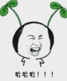 哈哈哈哈!!!(头上长草超级萌)
