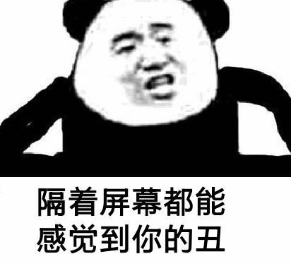 隔着屏幕都能感觉到你的丑(熊猫) - 表情包