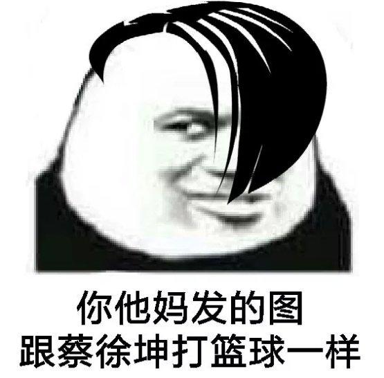 你他妈发的图跟蔡徐坤打篮球一样(熊猫头)