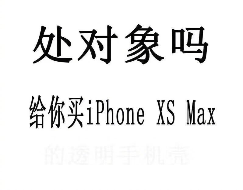 处对象吗?给你买 iphone XS Max 的透明手机壳